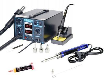 Pájecí stanice WEP 706 2v1 TWIN TURBO  + Cínový odsávač Elektrický
