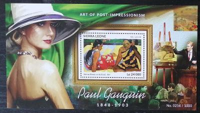 Sierra Leone 2015 Bl.826 11€ Malíři impresionismu, umění Paul Gauguin