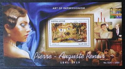 Sierra Leone 2015 Bl.823 11€ Malíři impresionismu, umění Pierre Renoir