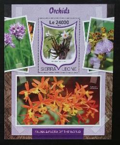 Sierra Leone 2016 Bl.1036 11€ Africké orchideje, flora a květiny