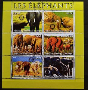 = CONGO-KONGO, 2003. =ELEPHANTS = PL / FZ-198
