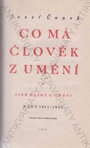 Co má člověk z umění,   Josef Čapek,  1946