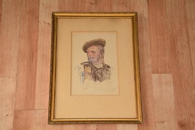 obraz, akvarel signován Forejt 1925