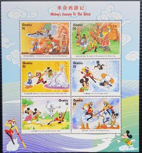 Gambie Disney dětské, 1tiskový list 6ks známek II.