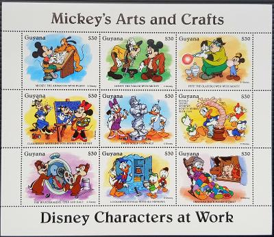 Guyana Disney dětské, 1tiskový list 8ks známek II.