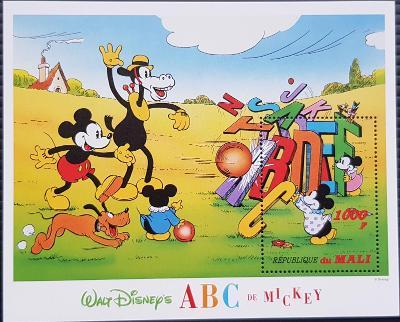 Disney Mali dětské, Abeceda II. 1ks aršík
