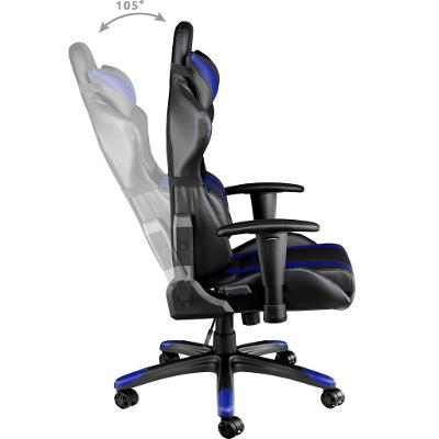 tectake 402031 kancelářská židle racing - černá/modrá