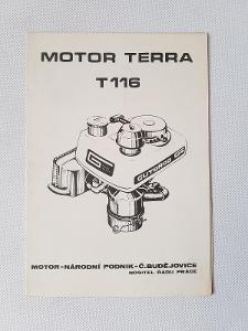 Originální příručka Motor Terra T116 Gutbrod zemědělské stroje Vari