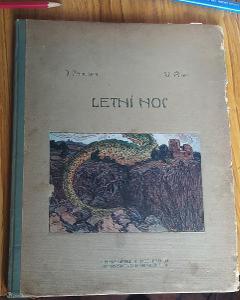 Kniha Letní noc od Václava Říhy z roku 1906