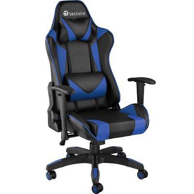 tectake 403208 kancelářská židle twink - černá/modrá