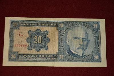 bankovka 20 korun československých 1926 série Le