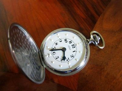 Švýcarské starožitné slepecké kapesní hodinky ARSA  - funkční
