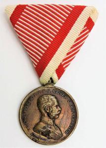 František Josef I. Medaile za statečnost / DER TAPFERKEIT