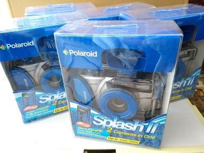 Kartón  Fotoaparátov Polaroid Splash II.  Nové - komplet zabalené.