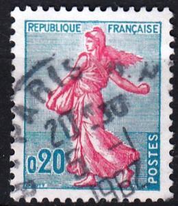 Francie 1960 Mi.1277 razítkovaná, prošla poštou