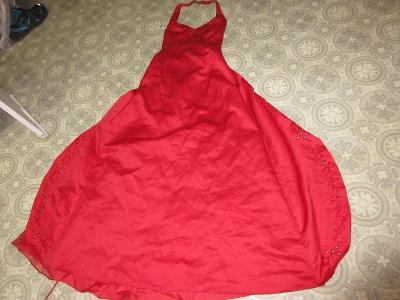 šaty dlouhé červené  MORGAN