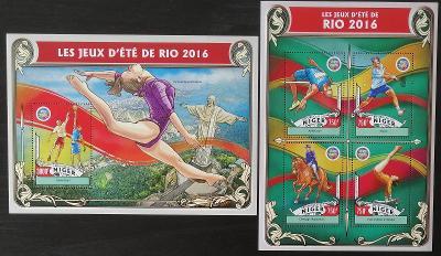 Niger 2016 Mi.4337-0+Bl.572 24€ Olympijské hry Rio, sport a atletika