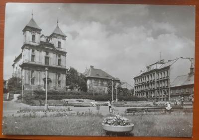 LITVÍNOV  -  NÁMĚSTÍ BUDOVATELŮ - stará historická pohlednice