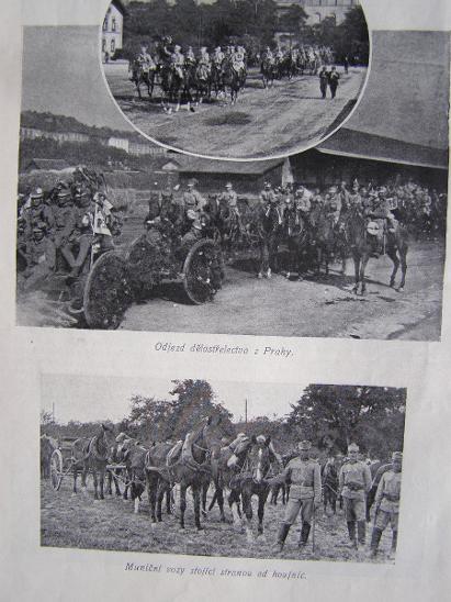 Světozor 1914 VÁLKA C.a k. dělostřelec Praha / válečný přístav / Belg. - Vojenské