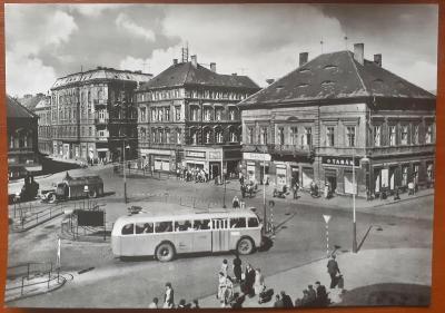 CHOMUTOV - ŽIŽKOVO NÁMĚSTÍ - stará historická pohlednice
