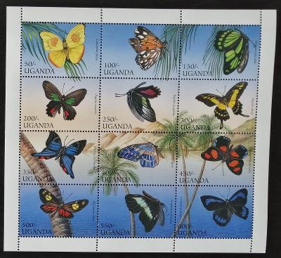 Uganda 1996 Mi.1704-5 9€ Afričtí motýli, hmyz