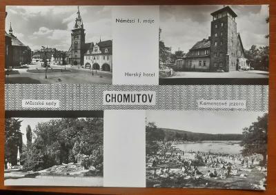 CHOMUTOV - OKÉNKOVÁ  - stará historická pohlednice