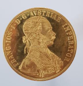 Zlatý 4 dukát František Josef I. 1915 ražební lesk