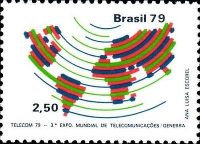 Brazílie 1979 Známky Mi 1737 ** mapa telekomunikace výstava