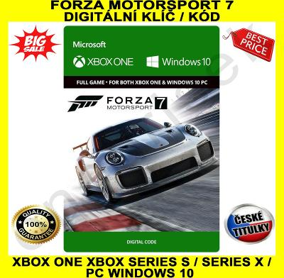 Forza Motorsport 7 Xbox One / Series X|S / PC Windows 10 CZ