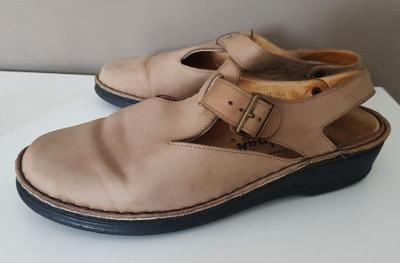 Kožené sandále zn. ROTT hautnah na vel. 40, na širší nohu