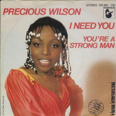 """PRESIOUS WILSON / ERUPTION - I NEED YOU 7""""SP"""