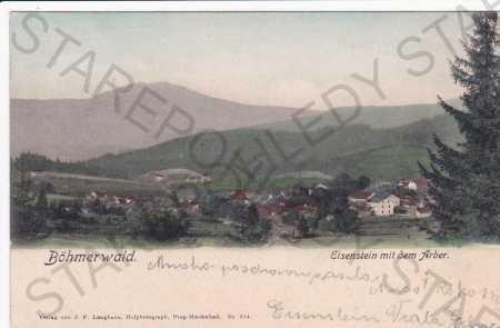 Železná Ruda, Šumava, hora Velký Javor, kolorovaná