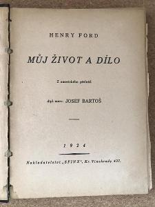 Můj život a dílo - Ford Henry