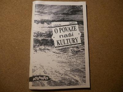 O povaze naší kultury - Černý Václav