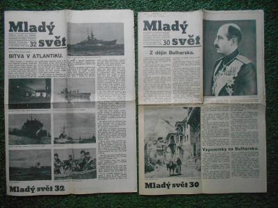 Mladý svět - 2 ks noviny z roku 1942
