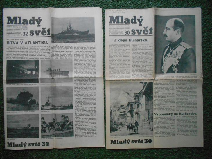 Mladý svět - 2 ks noviny z roku 1942 - Antikvariát