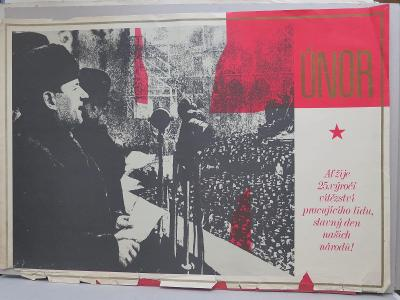 Plakát - vítězný únor - komunismus, propaganda
