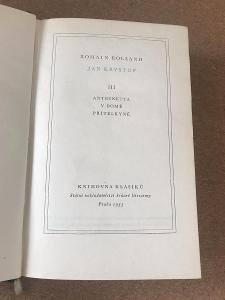 Jan Kryštof III. - Antoinetta, V domě, Přítelkyně - Rolland Romain