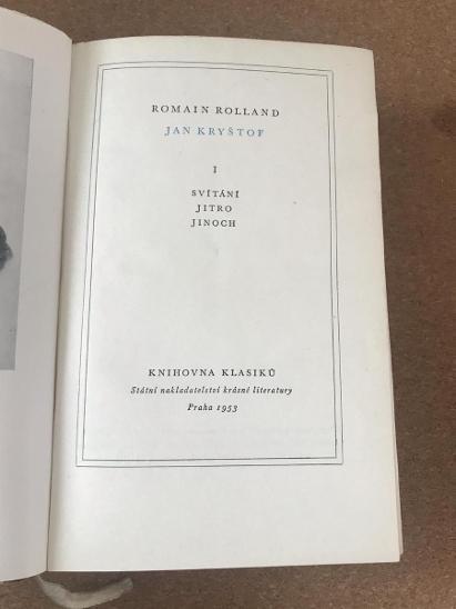 Jan Kryštof I. - Svítání, Jitro, Jinoch - Rolland Romain  - Knihy