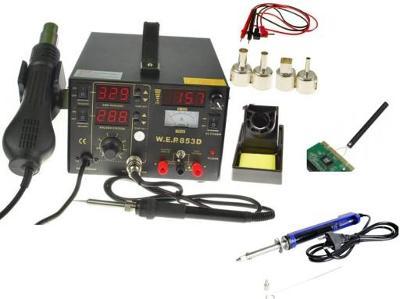 Pájecí stanice WEP 853D 5v1 LED15V 1A + Cínový odsávač Elektrický