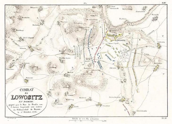 Lovosice bitva, Jomini, mědiryt , 1811 - Antikvariát
