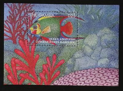 Gambie 1995 Bl.252 11€ Korálové ryby afrických moří