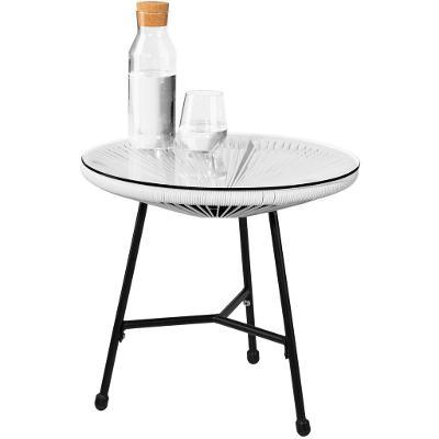 tectake 403308 sada 2 židlí gabriella se stolkem - bílá