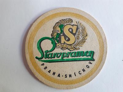 Pivni tacek. Staropramen - Praha Smichov