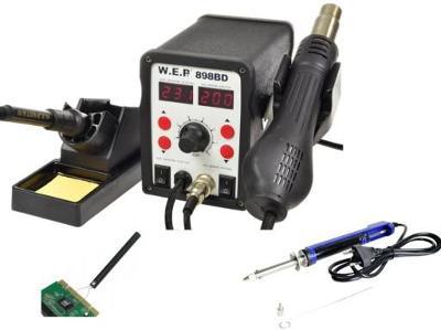 Pájecí stanice Horkovzdušná 898BD 700W Mikropájka + Odsávač Elektrický