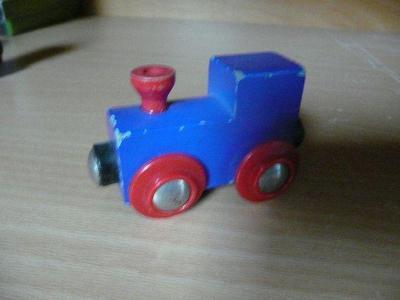vláčkodráha - mašinka modrá
