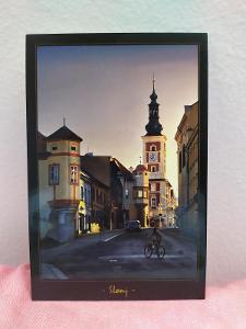 Pohlednice - Město Slaný (ČESKO) - popsaná VF