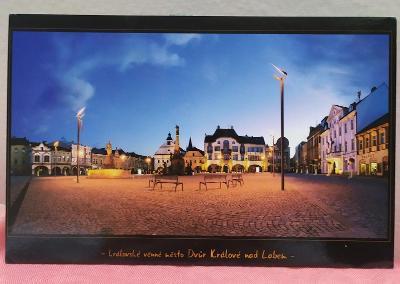 Pohlednice - Dvůr Králové nad Labem (ČESKO) - popsaná VF