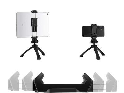 Fotopro ID-100+ držák na stativ pro MOBIL NEBO TABLET 6,5-18 cm, sáňky