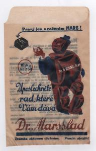reklamní sáček na bonbony Marsslad reklama 1. republika